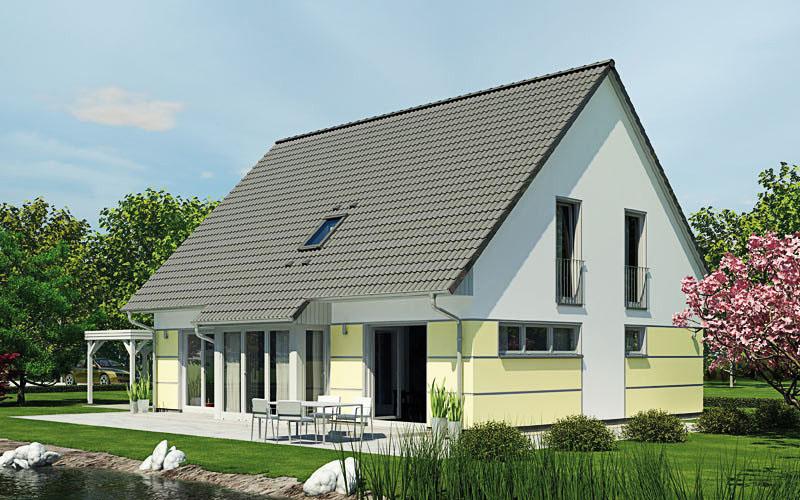 Das Bild zeigt das Zweifamilienhaus BIG 190 bietet viel Raum auf 160 qm.