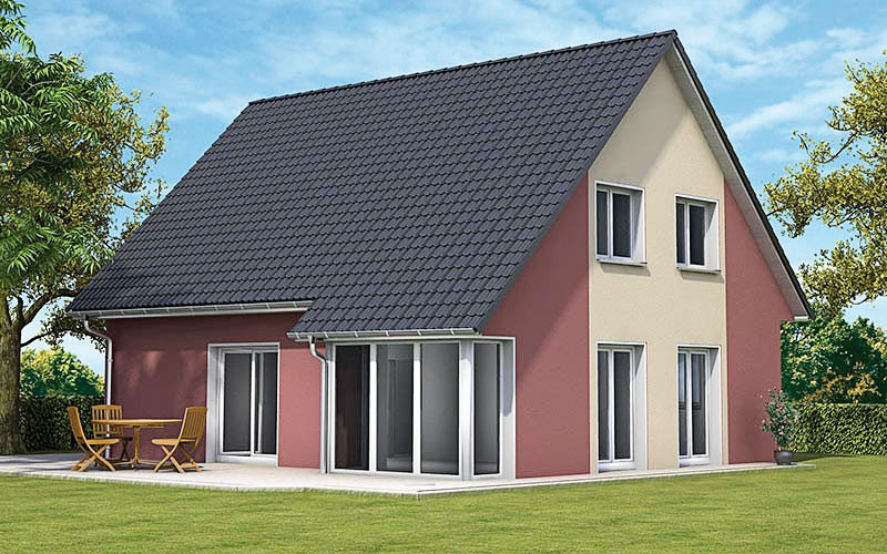 Dieses Bild zeigt das Einfamilienhaus Eco 1, dass individuelle Wohnwünsche auf ca. 130 qm bietet.