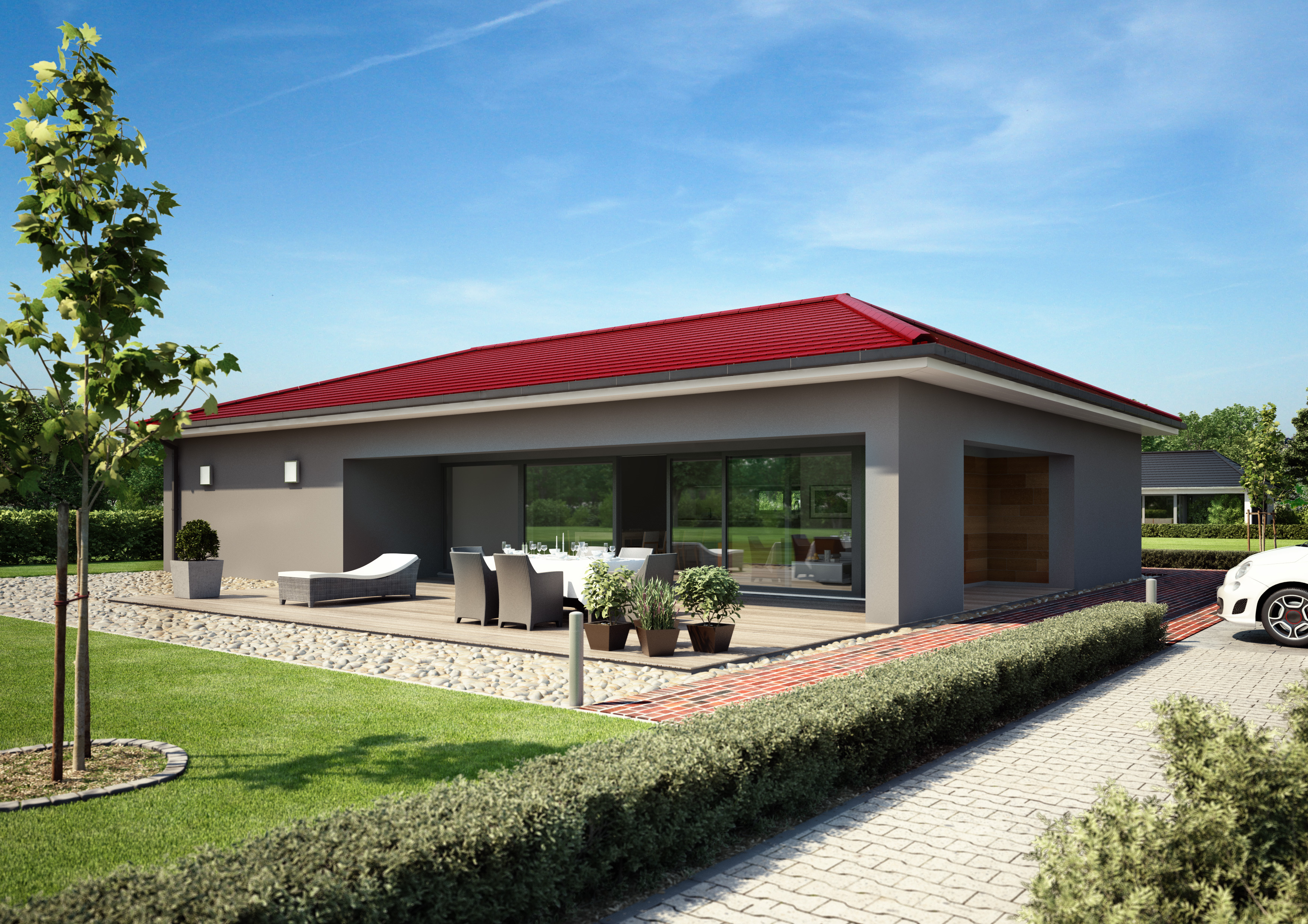 bungalow 182 fertigh user baugrundst cke. Black Bedroom Furniture Sets. Home Design Ideas