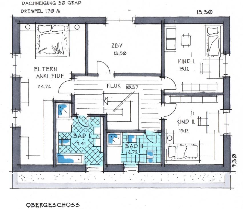 Obergeschoss Grundrissdes Vialla 203