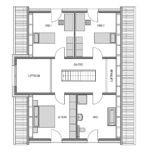 Obergeschoss Grundriss des Vialla 195
