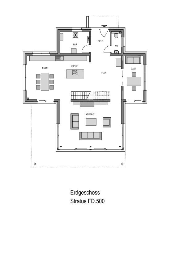 Erdgeschoss Grundriss des Cubus 298.