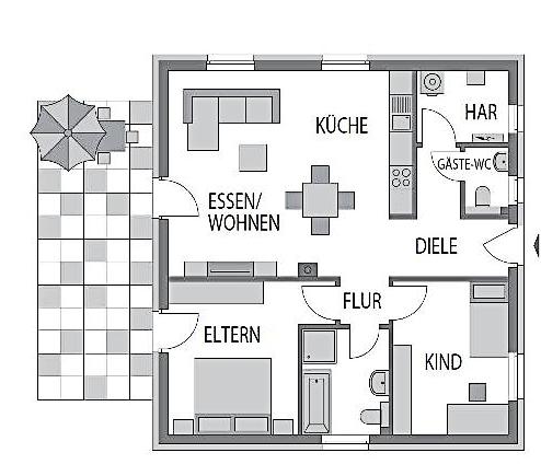 Der Bungalows 80 mit 79.96 m²