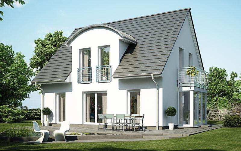 Das Einfamilienhaus Vialla 127 bietet viel Licht durch Erker, Gauben und Balkon auf ca. 110 m².