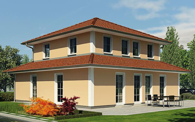 Die Stadtvilla City 153 im klassisch-ländlichen Stil mit italienischer Villenarchitektur auf 153 m².