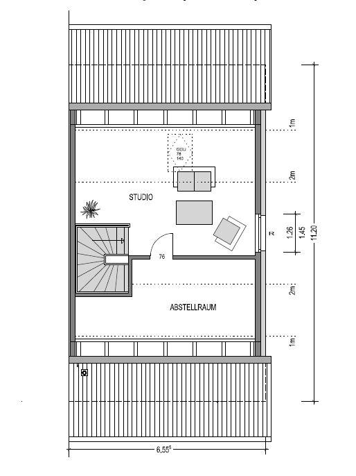 Dachgeschoss des Duo 175