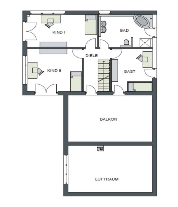 Der Grundriss Obergeschoss des Vialla 245.
