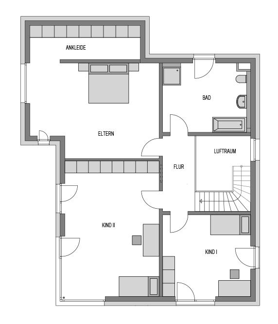 Der Grundriss Obergeschoss des Vialla 298.