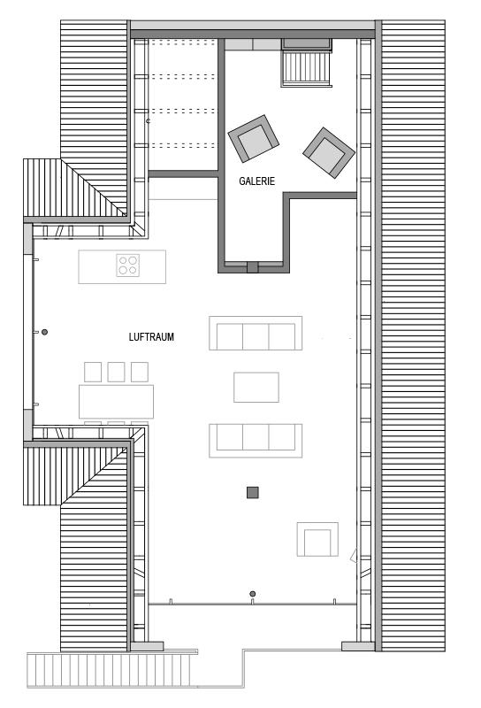 Grundriss Dachgeschoss des Vialla 300.