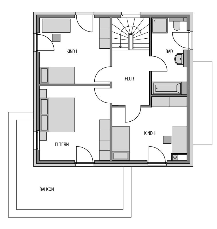 Der Grundriss Obergeschoss des City 173.