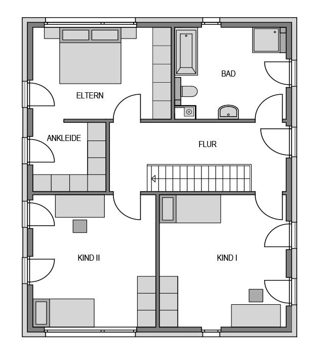 Der Grundriss Obergeschoss des City 169.