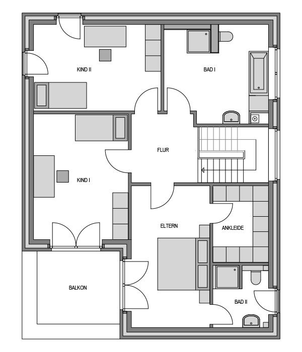 Der Grundriss Obergeschoss des City 193.
